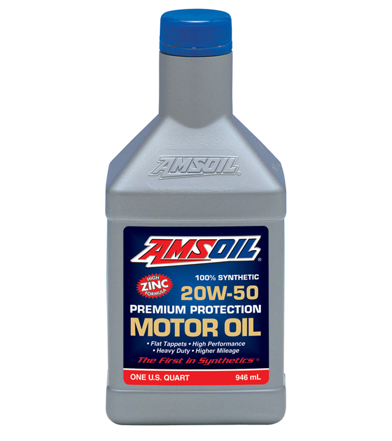 Amsoil premium protection 20w 50 synthetic engine oil for 3 in one motor oil